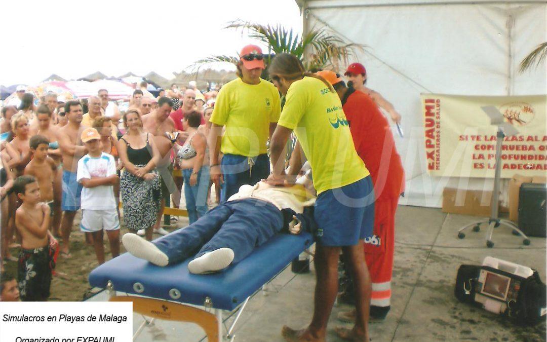 Simulacros en las Playas de Málaga
